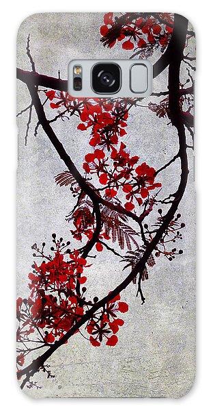 Spring Bloosom In Maldives. Flamboyant Tree II. Japanese Style Galaxy Case by Jenny Rainbow