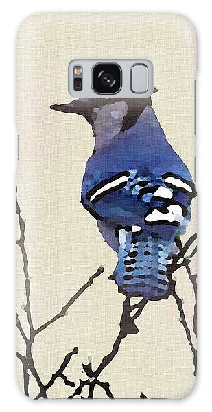 Galaxy Case featuring the digital art Spring Bluejay by Shelli Fitzpatrick