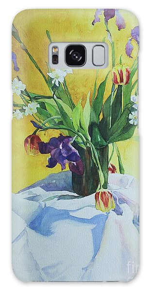 Spring Bouquet Galaxy Case by Elizabeth Carr