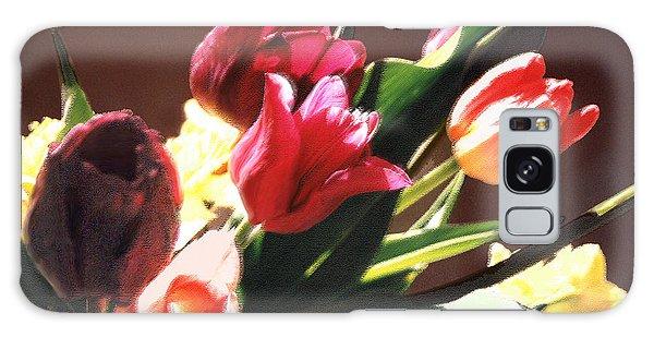 Spring Bouquet Galaxy Case by Steve Karol