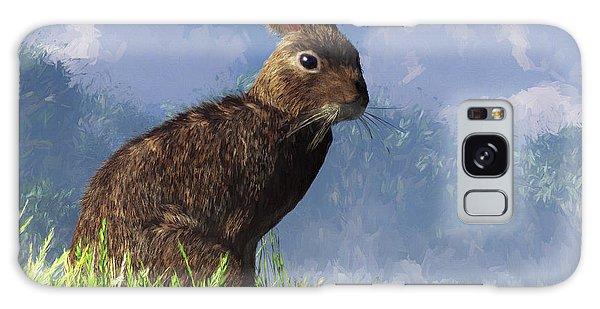 Spring Bunny Galaxy Case by Daniel Eskridge