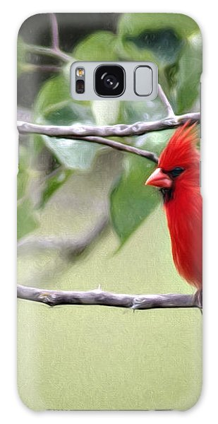 Spring Cardinal Galaxy Case by Lana Trussell