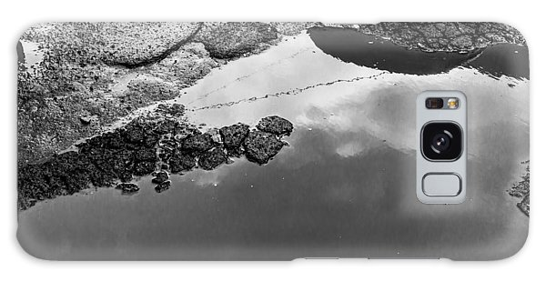 Spring Clouds Puddle Reflection Galaxy Case