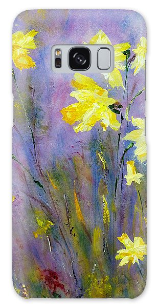 Spring Daffodils Galaxy Case by Claire Bull