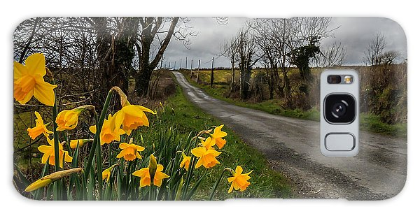 Galaxy Case featuring the photograph Spring Daffodils On An Irish Country Road by James Truett