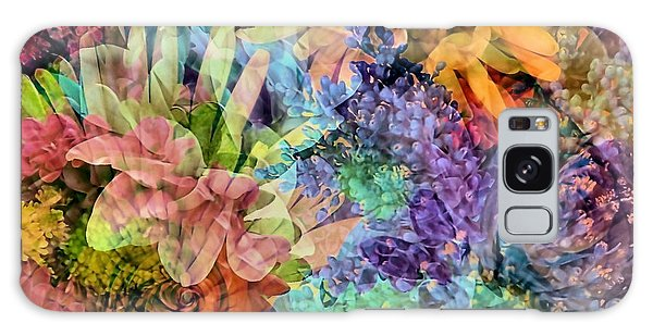 Spring Floral Composite  Galaxy Case by Janice Drew