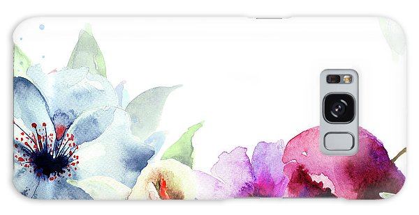 Spring Floral Background Galaxy Case