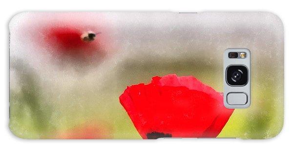 Spring Flowering Poppies Galaxy Case