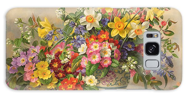 Spring Flowers And Poole Pottery Galaxy Case