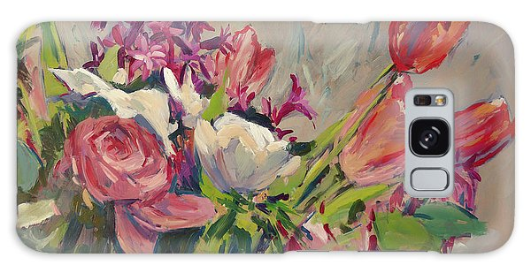Spring Flowers Bouquet Galaxy Case
