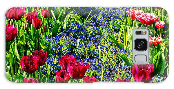 Spring Flowers Impression Galaxy Case by Olivier Le Queinec