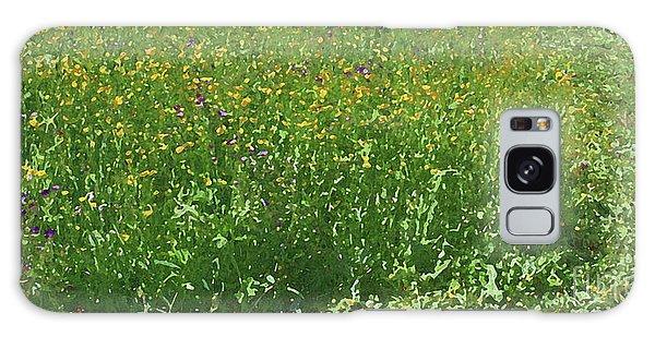 Spring Flowers In Meadow Galaxy Case