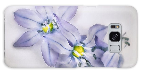 Impression Galaxy Case - Spring Flowers On White by Scott Norris