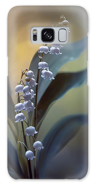 Lily Galaxy S8 Case - White Pearls by Magda  Bognar