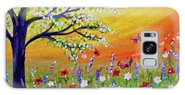 Galaxy Case featuring the painting Spring Has Sprung by Sonya Nancy Capling-Bacle