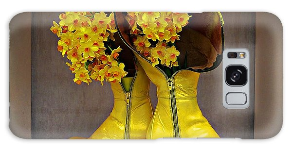 Spring In Yellow Boots Galaxy Case