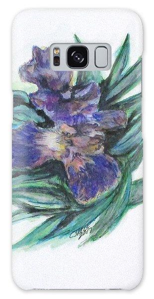 Spring Iris Bloom Galaxy Case