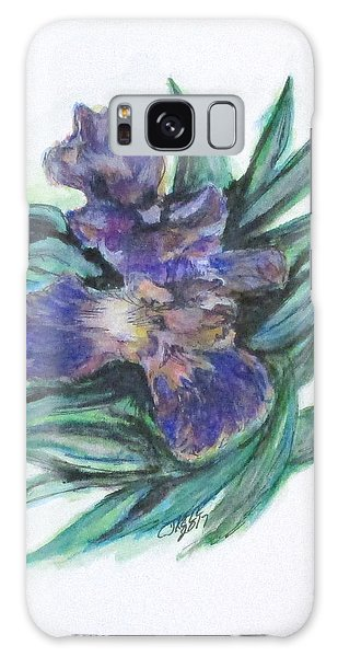 Spring Iris Bloom Galaxy Case