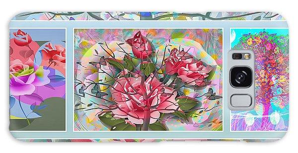 Galaxy Case featuring the digital art Spring Medley by Eleni Mac Synodinos