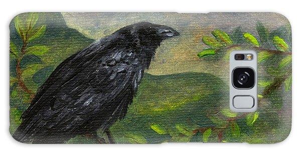 Spring Moon Raven Galaxy Case