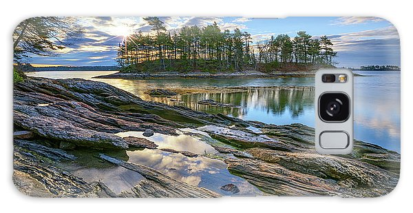 Spring Morning At Wolfe's Neck Woods Galaxy Case by Rick Berk