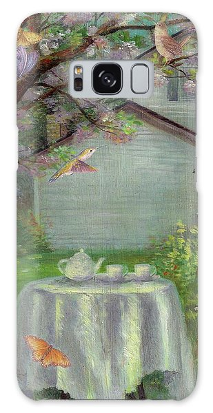 Spring Orchard Teatime Galaxy Case
