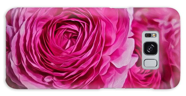 Spring Pink Roses Galaxy Case