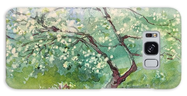 Spring Plum Galaxy Case by Elizabeth Carr