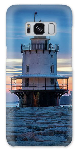 Spring Point Ledge Light Blue Hour II Galaxy Case