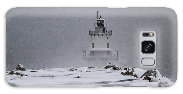 Spring Point Ledge Lighthouse Blizzard Galaxy Case