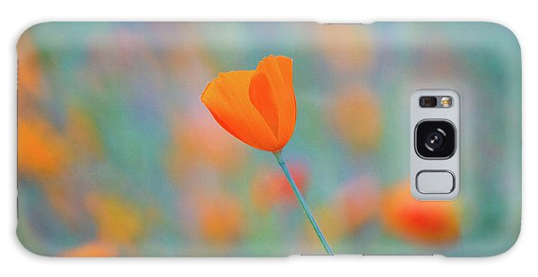 Flowers Galaxy Case - Spring Poppy by Anthony Michael Bonafede