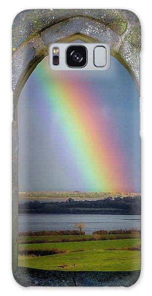 Galaxy Case featuring the photograph Spring Rainbow Over Ireland's Shannon Estuary by James Truett