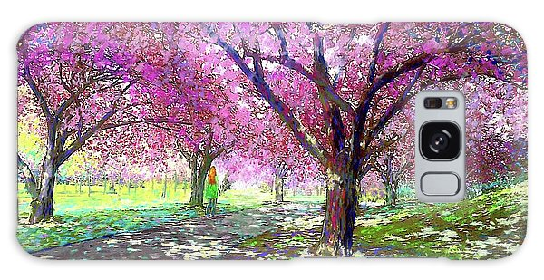 Blossoms Galaxy Case - Spring Rhapsody, Happiness And Cherry Blossom Trees by Jane Small