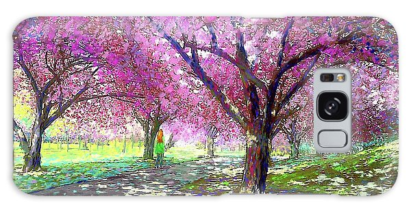 Sun Galaxy Case - Spring Rhapsody, Happiness And Cherry Blossom Trees by Jane Small