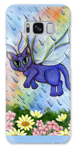 Spring Showers Fairy Cat Galaxy Case by Carrie Hawks