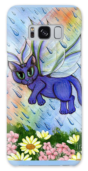 Spring Showers Fairy Cat Galaxy Case