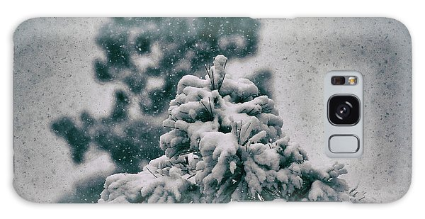 Spring Snowstorm On The Treetops Galaxy Case