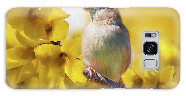 Spring Sparrow Galaxy Case