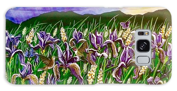 Spring Storm  Iris Fields Galaxy Case