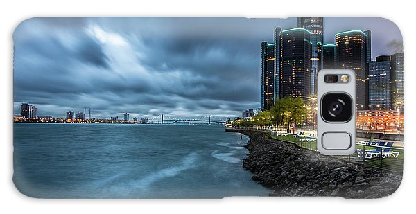Storm Season In Detroit  Galaxy Case