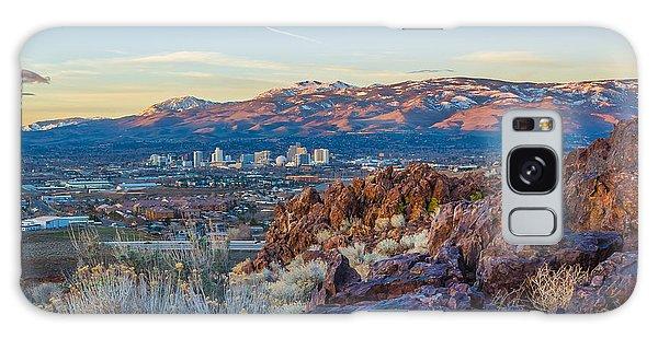 Spring Sunrise Overlooking Reno Nevada Galaxy Case