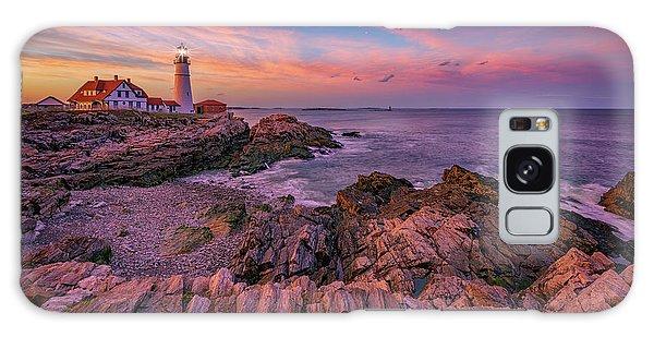Spring Sunset At Portland Head Lighthouse Galaxy Case by Rick Berk