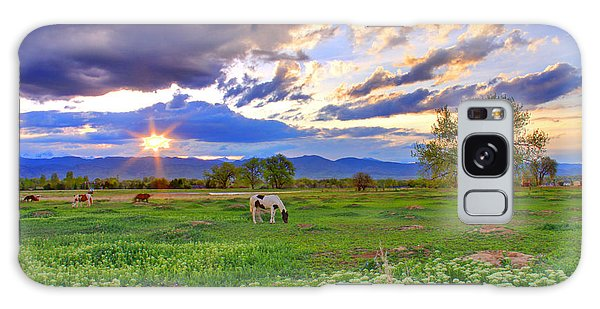 Spring Sunset Over The Rockies Galaxy Case by Scott Mahon