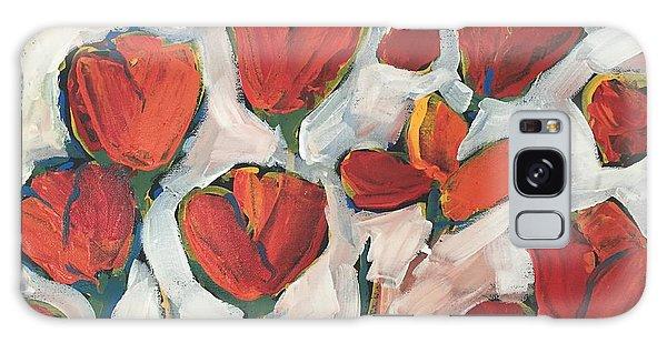 Spring Tulip Garden Galaxy Case
