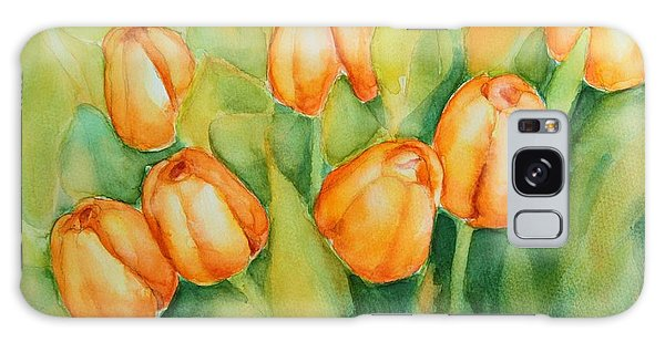 Spring Tulips 1 Galaxy Case