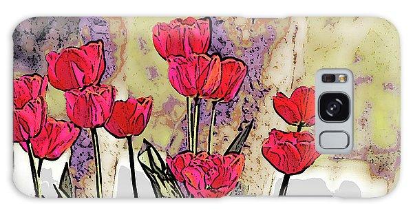 Spring Tulips Galaxy Case