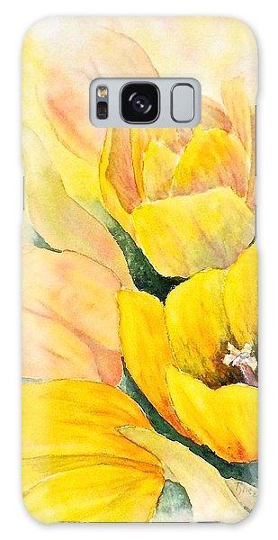 Spring Tulips Galaxy Case by Carolyn Rosenberger