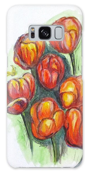 Spring Tulips Galaxy Case by Clyde J Kell