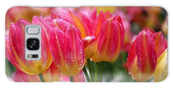 Spring Tulips In The Rain Galaxy Case