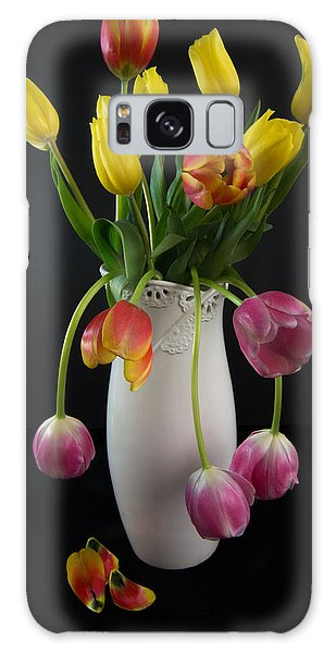 Spring Tulips In Vase Galaxy Case by Patti Deters